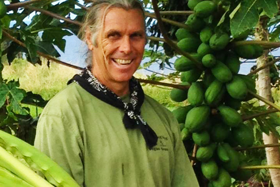 Clarence Baber - Cab - Organic Farmer Hawaii - Personal Biographics Web Design by Steven Andrew Martin PhD