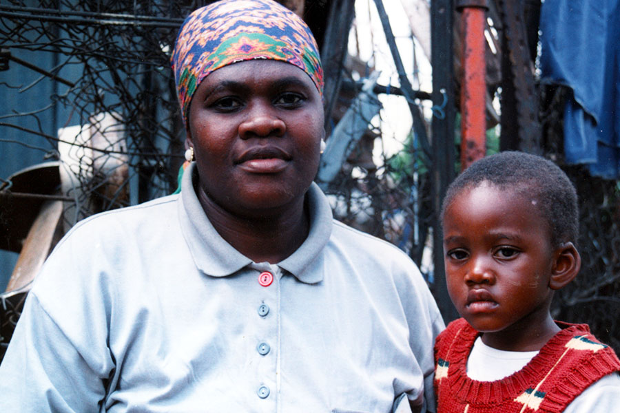 Xhosa mother and child - South Africa - Personal Biographics Web Design by Steven Andrew Martin PhD